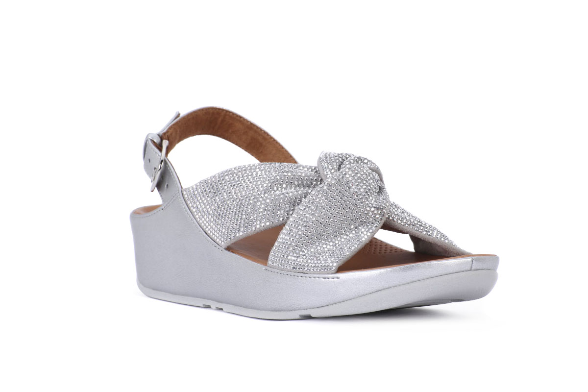 size 40 81991 dc79c FIT FLOP TWISS CRYSTAL SILVER
