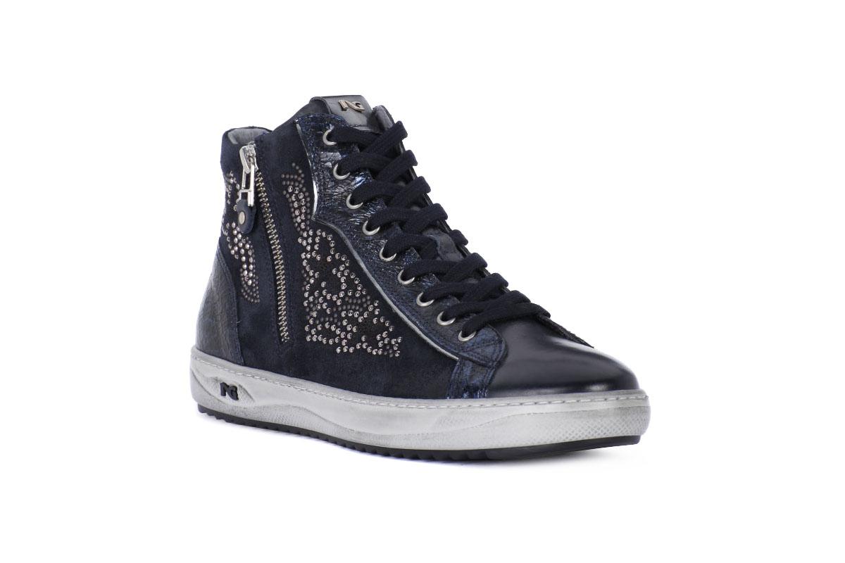 Sneaker alta Donna Musk nero