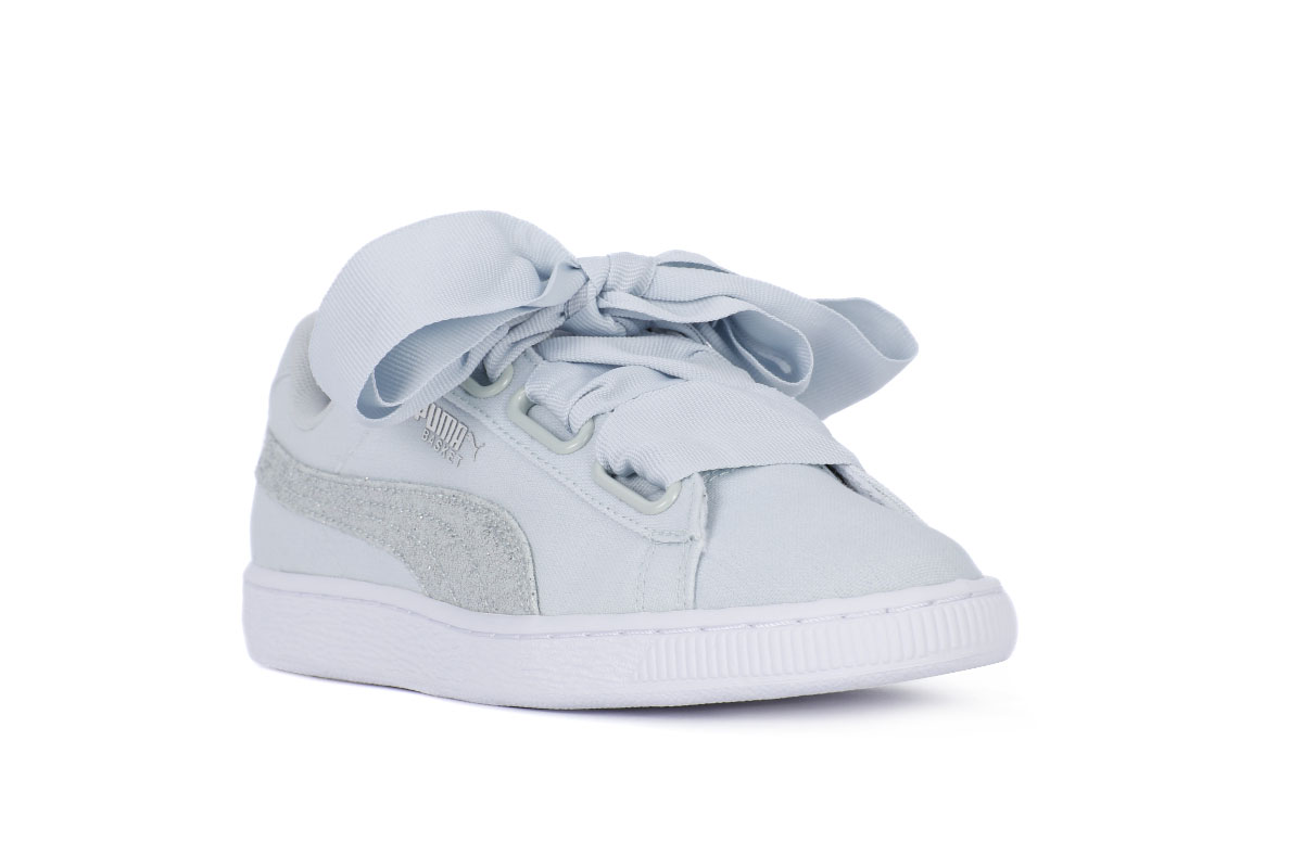 scarpe puma basket heart glitter