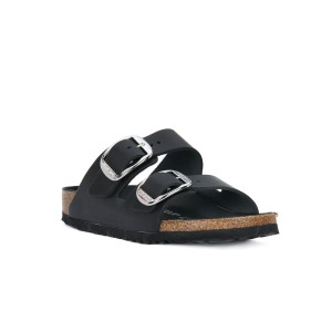BIRKENSTOCK ARIZONA BLACK BIG BUCKLE OILED CALZ
