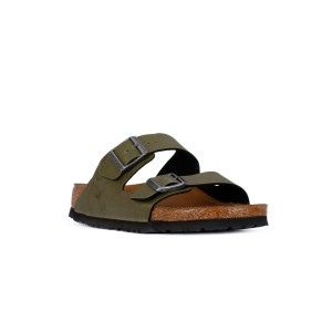 BIRKENSTOCK ARIZONA PULL UP OLIVE