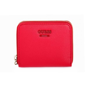 GUESS RED NOELLE LARGE ZIP