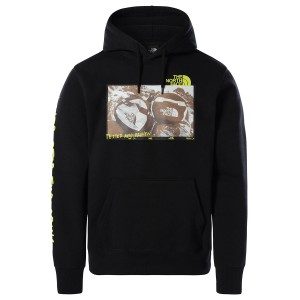 THE NORTH FACE  BLK M BASE FALL GRAPHIC HOODIEK