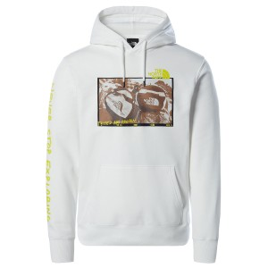 THE NORTH FACE  WHT M BASE FALL GRAPHIC HOODIEK